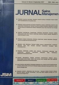 View Vol. 6 No. 02 (2017): Journal Sains Manajemen Volume VI, nomor, 02 September 2017