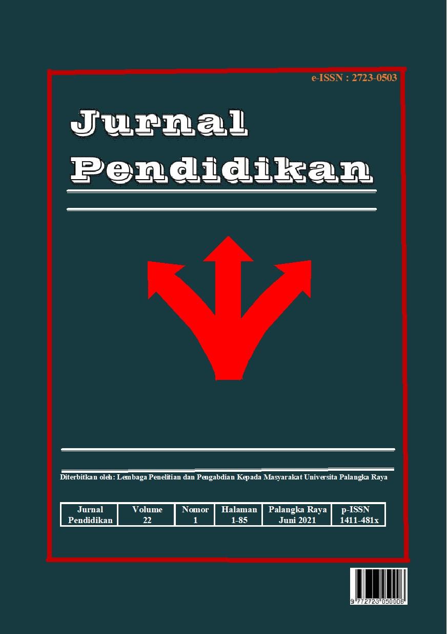 View Vol. 22 No. 1 (2021): Jurnal Pendidikan