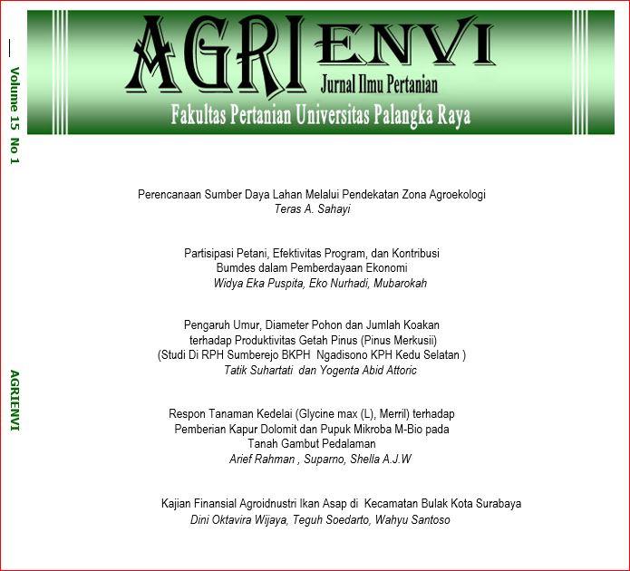 View Vol. 15 No. 1 (2021): Journal Agrienvi