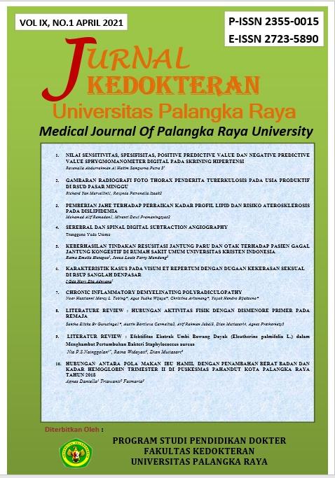 Lihat Vol 9 No 1 (2021): Jurnal Kedokteran Universitas Palangka Raya