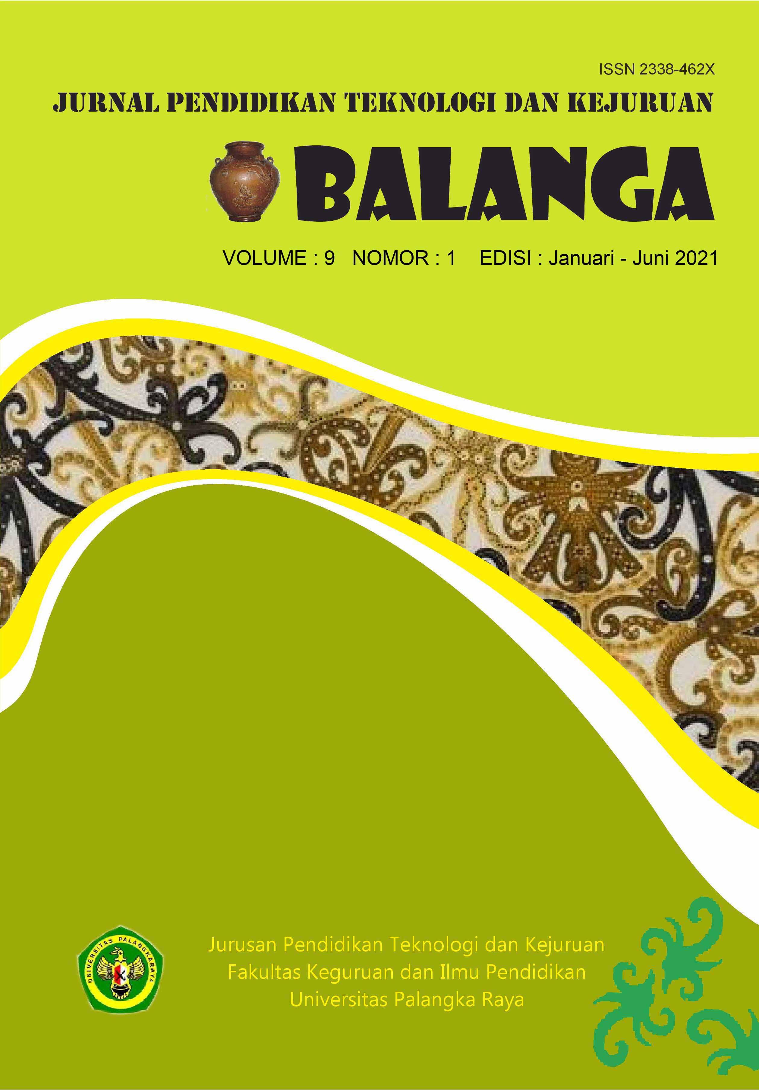 View Vol. 9 No. 1 (2021): Journal Balanga Edisi Januari-Juni 2021